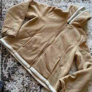 Tan Fleece Jacket